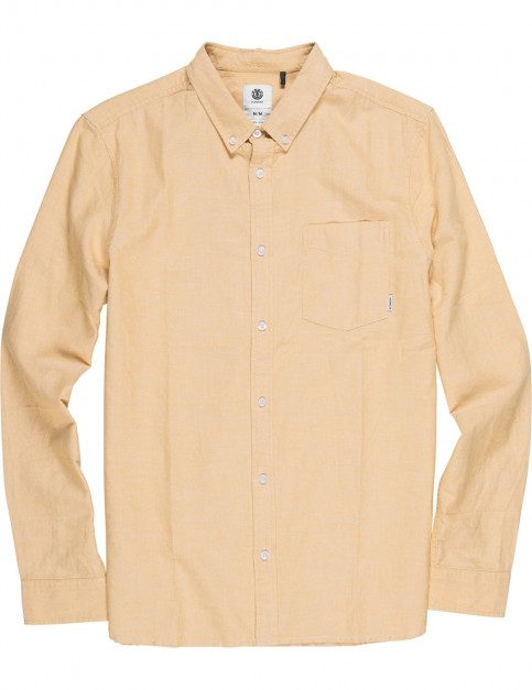 Element Oxford Long Sleeve Shirt in Mineral Yellow
