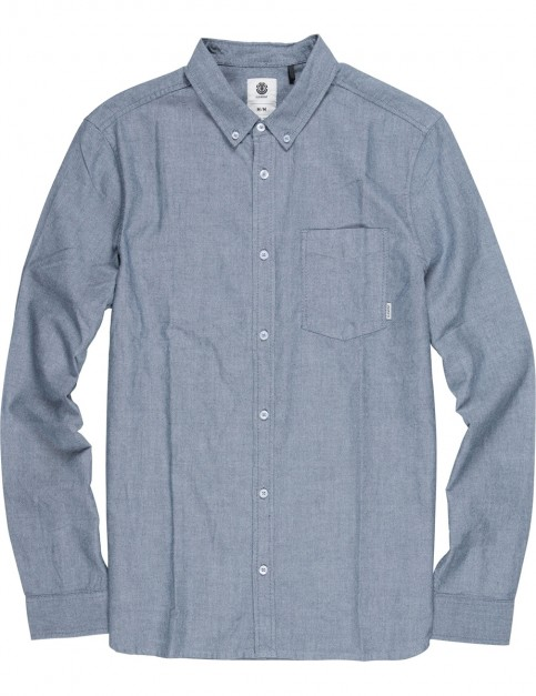 Element Oxford Long Sleeve Shirt in Navy