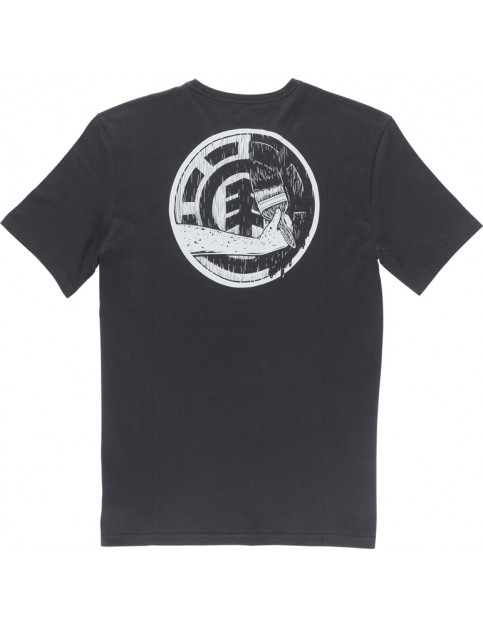 Element Painted Short Sleeve T-Shirt in Off Black