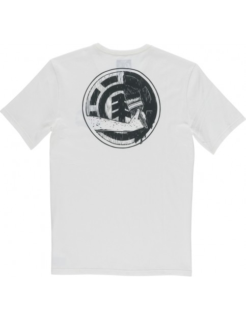 Element Painted Short Sleeve T-Shirt in Off White