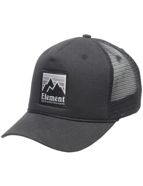 Element Peak Trucker Cap in Off Black