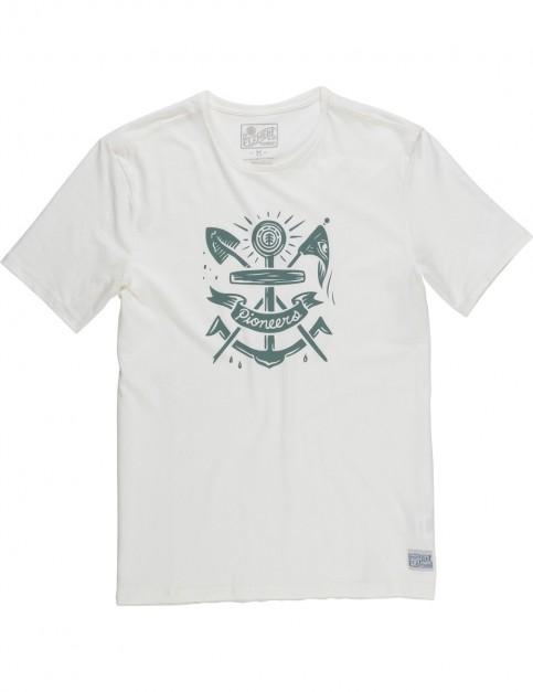 Element Pioneers Short Sleeve T-Shirt in Bone White