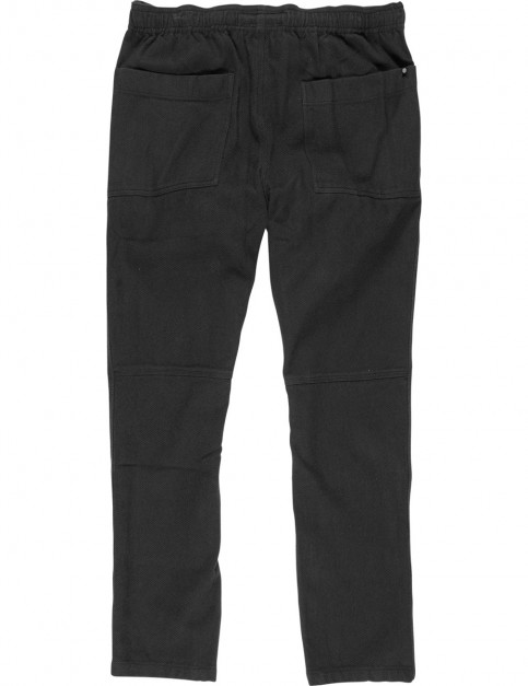 Element Pull Up Flannel Trousers in Flint Black
