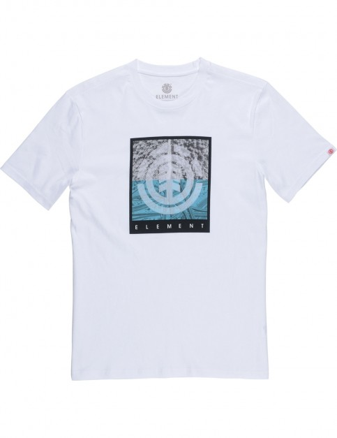 Element Reroute Short Sleeve T-Shirt in Optic White