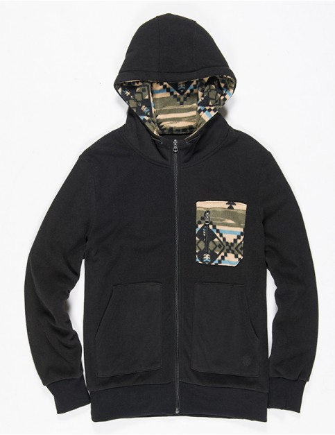 Element Richmond Zipped Hoody in Flint Black