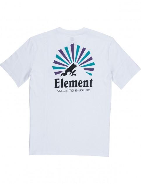 Element Rising Short Sleeve T-Shirt in Optic White