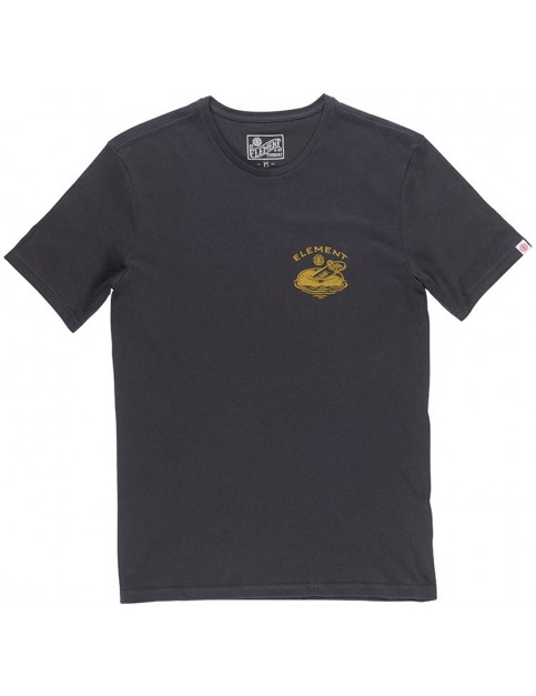 Element River Keeper Short Sleeve T-Shirt in Off Black