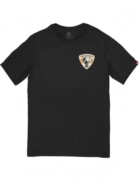 Element Roar Short Sleeve T-Shirt in Flint Black