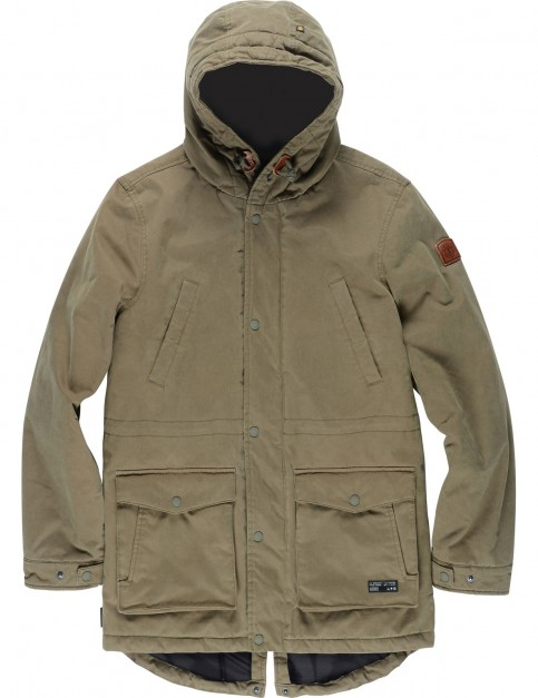 Element Roghan Plus Parka Jacket in Moss Green