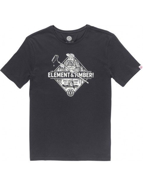 Element Rolling Short Sleeve T-Shirt in Off Black
