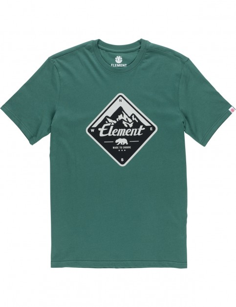 Element Route Short Sleeve T-Shirt in Hunter Green