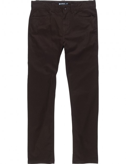 Element Sawyer Chino Trousers in Chocolate Torte