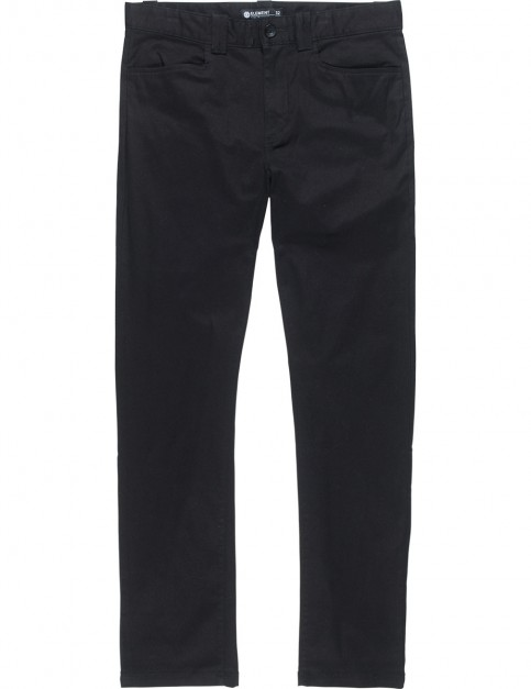 Element Sawyer Chino Trousers in Flint Black
