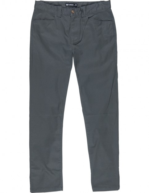 Element Sawyer Chino Trousers in Stone Grey