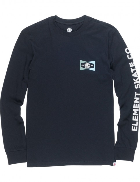 Element Segment Long Sleeve T-Shirt in Flint Black