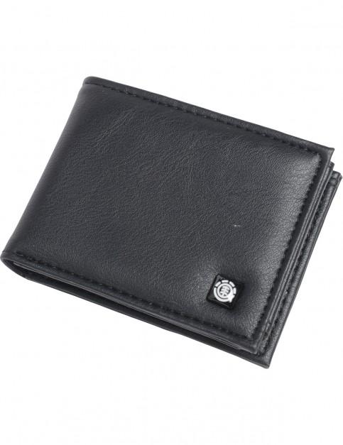 Element Segur Faux Leather Wallet in Flint Black
