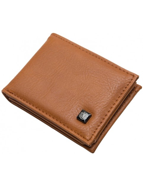 Element Segur Faux Leather Wallet in Rust Brown