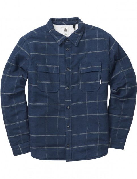 Element Shelton Ls Long Sleeve Shirt in Eclipse Navy