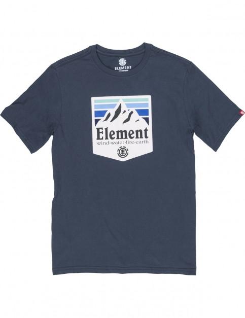 Element Shutter Short Sleeve T-Shirt in Eclipse Navy