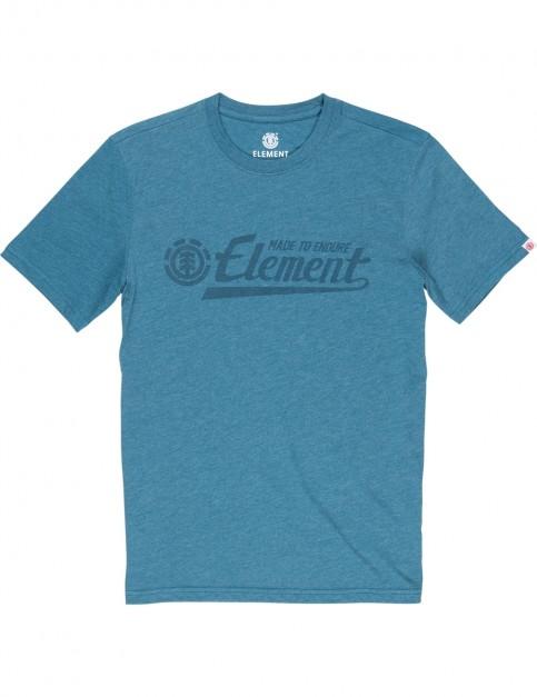 Element Signature Short Sleeve T-Shirt in Blue Steel Htr