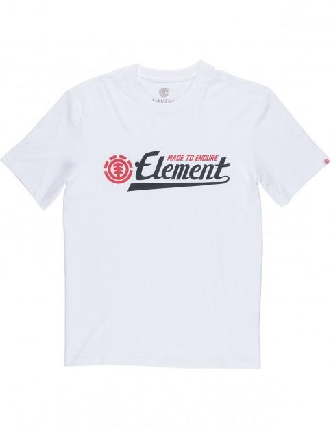 Element Signature Short Sleeve T-Shirt in Optic White