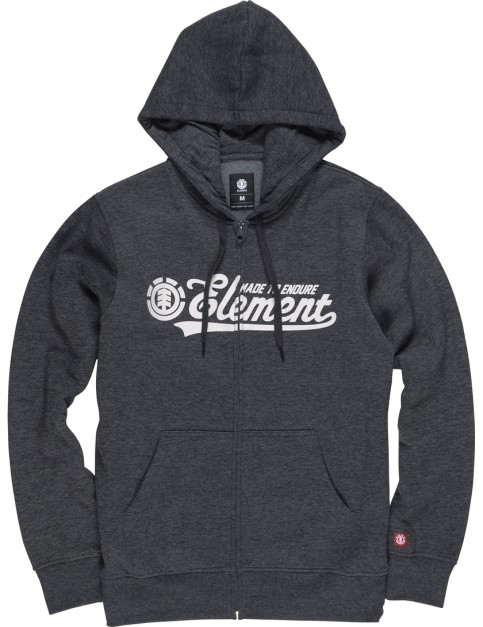 Element Signature Zipped Hoody in Charcoal Heather
