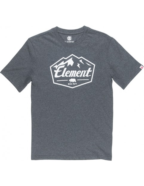Element Slab Short Sleeve T-Shirt in Charcoal Heathe