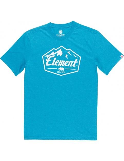 Element Slab Short Sleeve T-Shirt in Storm Blue Heat