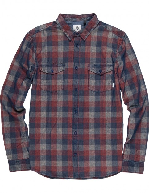 Element Tacoma Cord Long Sleeve Shirt in Picante