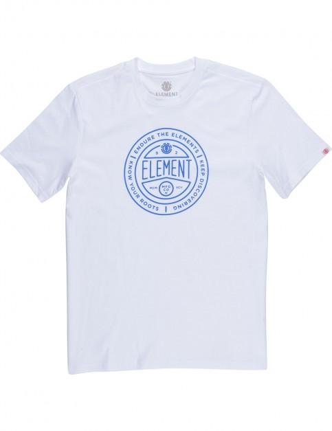 Element Token Short Sleeve T-Shirt in Optic White
