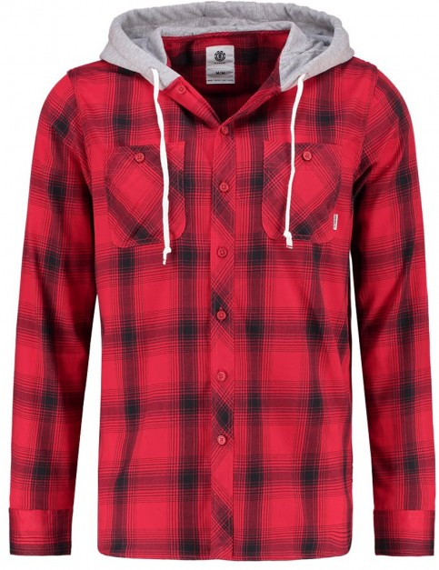 Element Turner Long Sleeve Shirt in Sangria Red