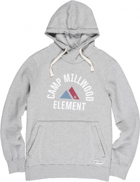 Element Valdez Pullover Hoody in Grey Heather