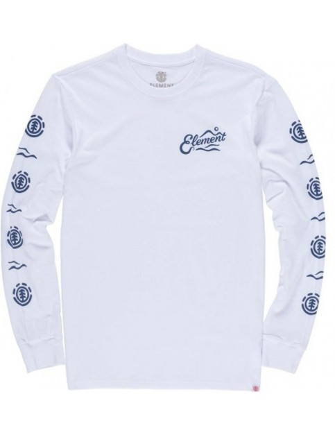 Element Valley Long Sleeve T-Shirt in Optic White
