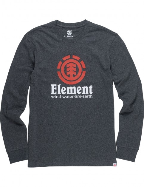 Element Vertical Long Sleeve T-Shirt in Charcoal Heathe