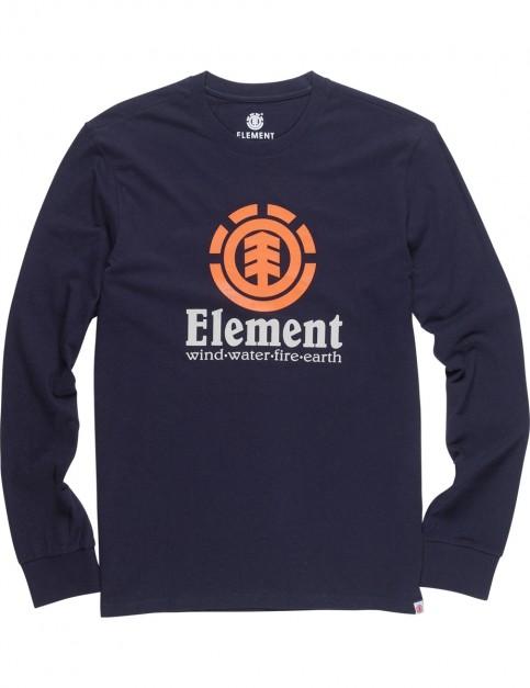 Element Vertical Long Sleeve T-Shirt in Eclipse Navy