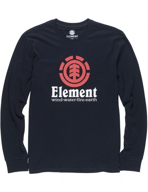 Element Vertical Long Sleeve T-Shirt in Flint Black