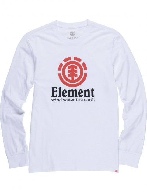Element Vertical Long Sleeve T-Shirt in Optic White