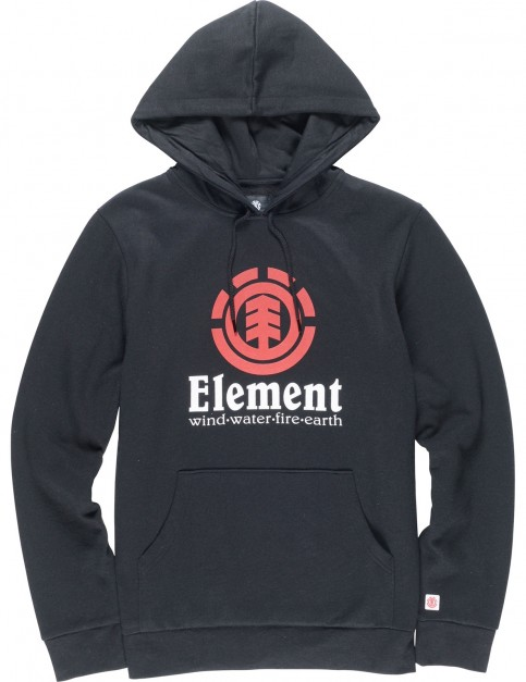 Element Vertical Pullover Hoody in Flint Black