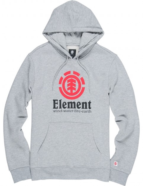 Element Vertical Pullover Hoody in Grey Heather