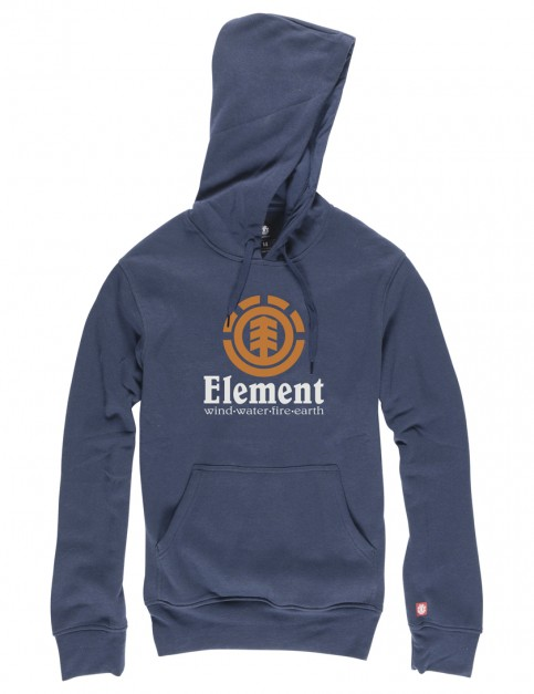 Indigo Element Vertical Pullover Hoody
