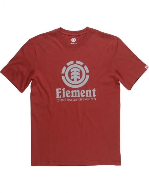 Element Vertical Short Sleeve T-Shirt in Brick Red