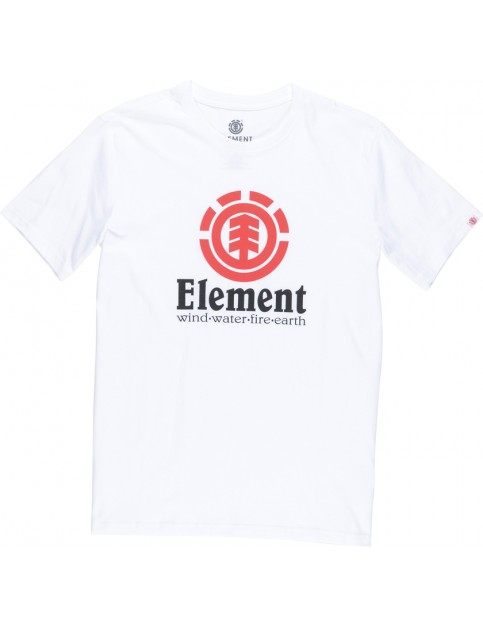 Element Vertical Short Sleeve T-Shirt in Optic White