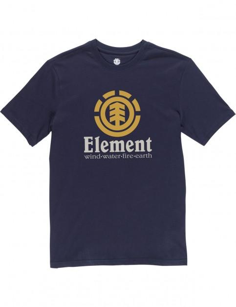 Element Vertical Short Sleeve T-Shirt in Eclipse Navy