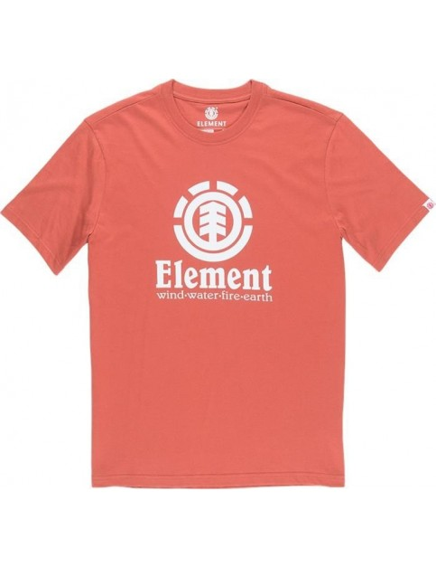 Element Vertical Short Sleeve T-Shirt in Etruscan Red