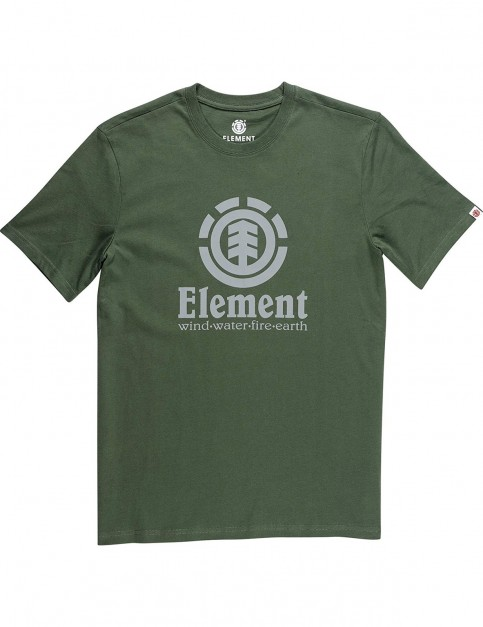 Element Vertical Short Sleeve T-Shirt in Olive Drab