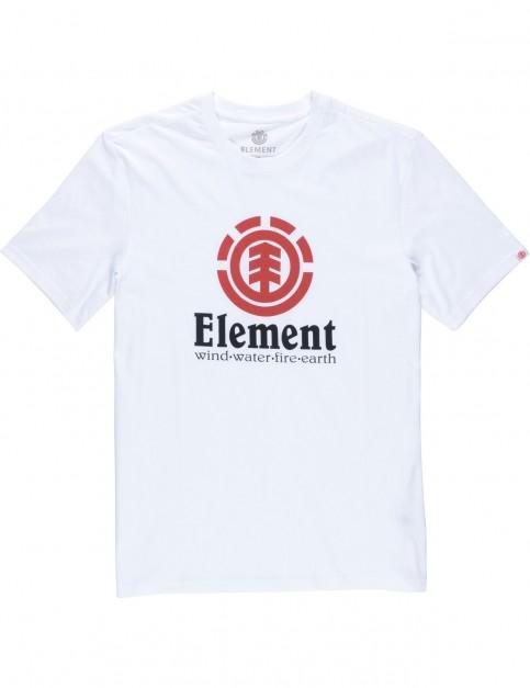 Element Vertical Short Sleeve T-Shirt in Optic White