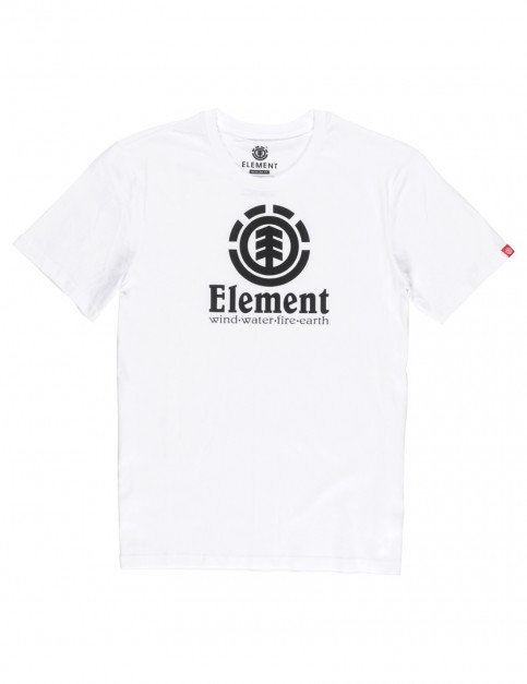 Optic White Element Vertical Short Sleeve T-Shirt