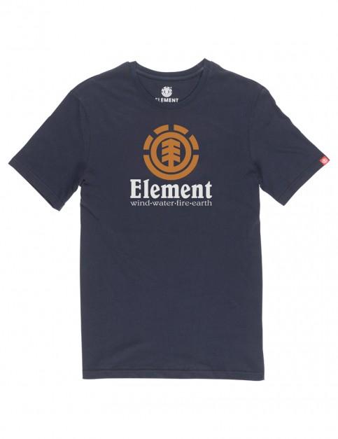 Eclipse Navy Element Vertical Short Sleeve T-Shirt