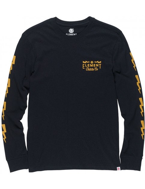 Element Zap Long Sleeve T-Shirt in Flint Black