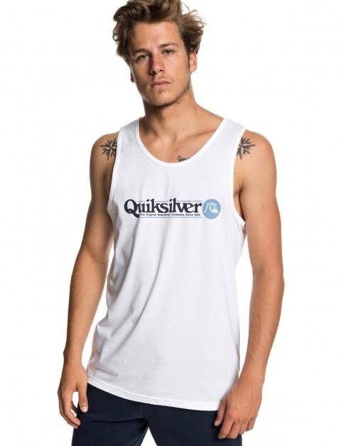 Quiksilver Art Tickle Sleeveless T-Shirt in White
